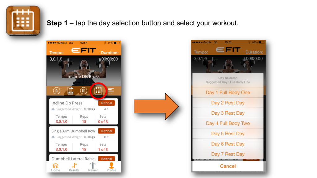 Trainer Screen - Step 1 - Day Selection (5)